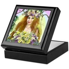 Spring Maiden Keepsake Box