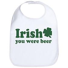 Irish You Were Beer Bib