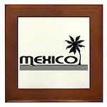Mexico Black Palm Framed Tile