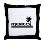 Mexico Black Palm Throw Pillow