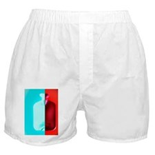 Hot and cold water bottle Boxer Shorts