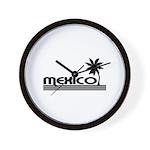Mexico Black Palm Wall Clock
