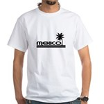 Mexico Black Palm White T-Shirt