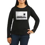 Mexico Black Palm Women's Long Sleeve Dark T-Shirt