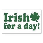 Irish for a Day Rectangle Sticker