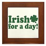 Irish for a Day Framed Tile