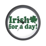 Irish for a Day Wall Clock