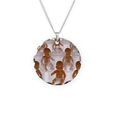 Human cloning Necklace Circle Charm