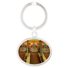 Skee ball games Oval Keychain