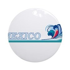 Mexico Ocean Wave Ornament (Round)