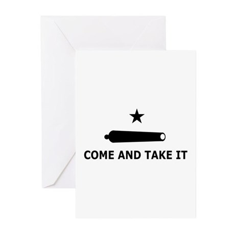 Come And Take It Greeting Cards (Pk of 10)