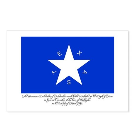 Texas Flag with Declaration Postcards (Package of