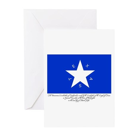 Texas Flag with Declaration Greeting Cards (Packag