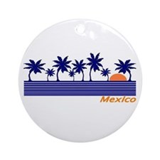 Mexico Blue Sunset Ornament (Round)