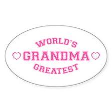 World's Greatest Grandma Oval Decal
