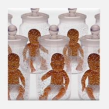 Human cloning Tile Coaster