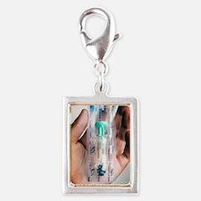 Human papillomavirus vaccine Silver Portrait Charm