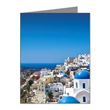 Churches of Santorini Note Cards (Pk of 10)