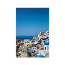 Churches of Santorini Rectangle Magnet