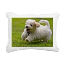 Havanese puppy Rectangular Canvas Pillow