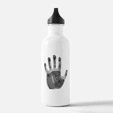 Human handprint Water Bottle