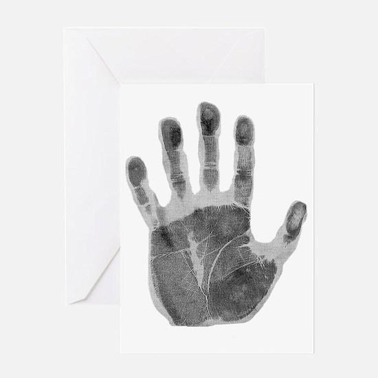 Human handprint Greeting Card
