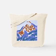 Human papilloma virus particles, TEM Tote Bag