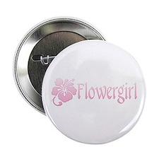 Hibiscus Flowergirl Button