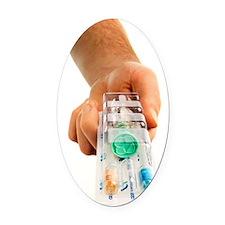 Human papillomavirus vaccine Oval Car Magnet