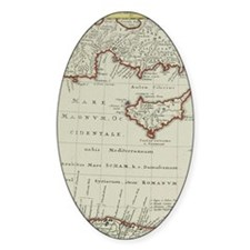 Antique map of the Middle East with Decal
