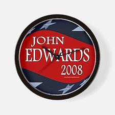 John Edwards All Stars Wall Clock
