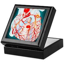 Illustration of heart showing the cau Keepsake Box