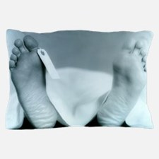 ID tag on cadaver Pillow Case