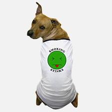 Smoking Stinks Dog T-Shirt