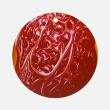 Illustration of blood cells Round Ornament