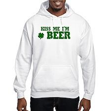 Kiss Me I'm Beer Hoodie