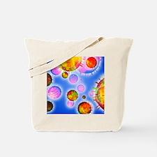 Influenza virus particles Tote Bag