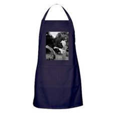 A scarecrow in a field. Apron (dark)