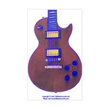 """""""Blue Edged"""" Guitar Rectangle Decal"""