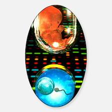 In vitro fertilization Sticker (Oval)