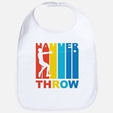 Vintage Hammer Throw Graphic T Shirt Baby Bib