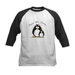 Best Big Sister penguins Kids Baseball Jersey