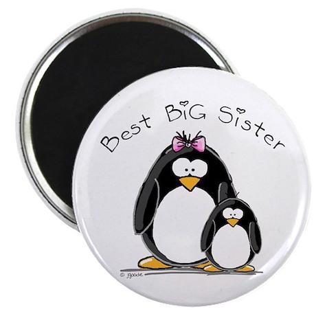 Best Big Sister penguins Magnet