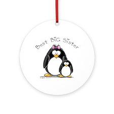 Best Big Sister penguins Ornament (Round)