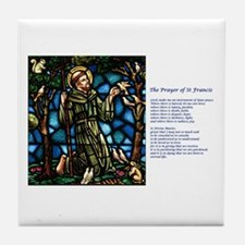 St Francis of Assisi Tile Coaster