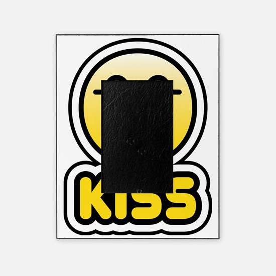 kiss bbm smiley Picture Frame