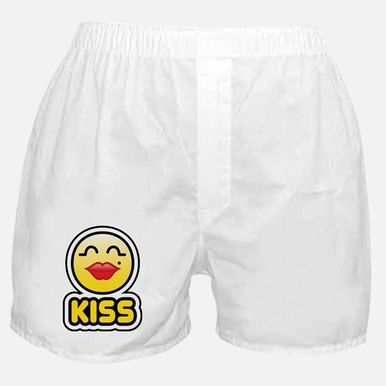kiss bbm smiley Boxer Shorts