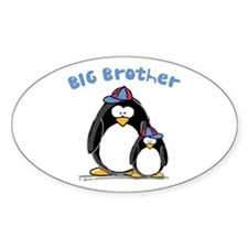 Big Brother Penguin Oval Decal