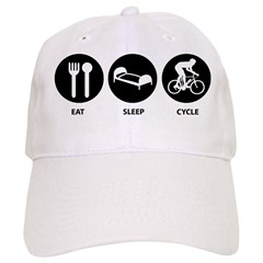 Eat Sleep Cycle Baseball Cap