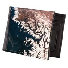 Landscape of earth viewed from space Mens Wallet